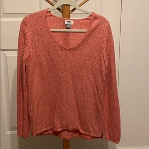 a pink sweater from old navy